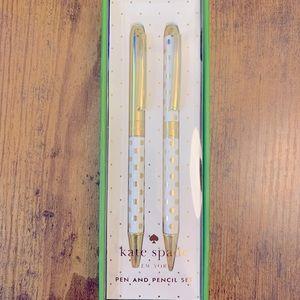 NWT Kate Spade Pen & Pencil Set